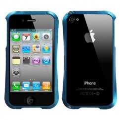 Apple iPhone 4/4s Baby Blue Nitro Surround Shield with Chrome Coating Metal