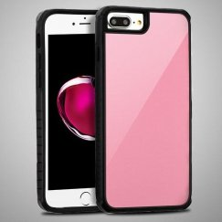 Rose Gold Tempered Glass/Black Fusion Protector Cover