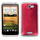 HTC One X Red Cosmo Back Protector Cover