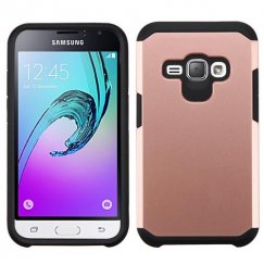 Samsung Galaxy J1 Rose Gold/Black Astronoot Case