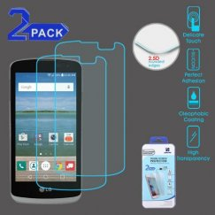 LG Optimus Zone 3 / Spree Tempered Glass Screen Protector (2.5D)(2-pack)