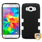 Samsung Galaxy Grand Prime Rubberized Black/Solid White Hybrid Case