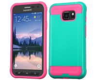 Teal Green/Hot Pink Brushed Hybrid Protector Cover
