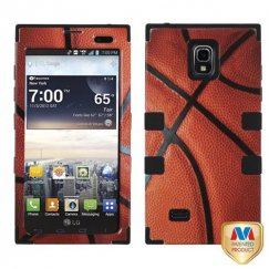 LG Spectrum 2 Basketball-Sports Collection/Black Hybrid Case