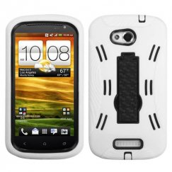 HTC One VX Black/White Symbiosis Stand Case