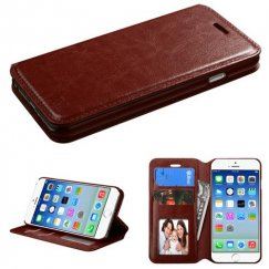 Apple iPhone 6/6s Brown Wallet with Tray