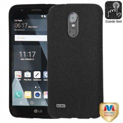 LG G Stylo 3 Black Frosted SPOTS Candy Skin Cover