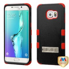 Samsung Galaxy S6 Edge Plus Natural Black/Red Hybrid Case with Stand