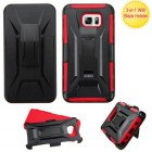 Samsung Galaxy Note 5 Black/Red Advanced Armor Stand Protector Cover (With Black Holster)