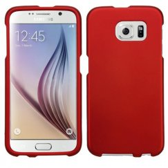 Samsung Galaxy S6 Titanium Solid Red Case