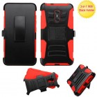 ZTE Grand X Max 2 Black/Red Advanced Armor Stand Case with Black Holster