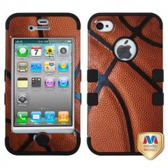 Apple iPhone 4/4s Basketball-Sports Collection/Black Hybrid Case