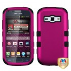 Samsung Galaxy Ring Titanium Solid Hot Pink/Black Hybrid Phone Protector Cover