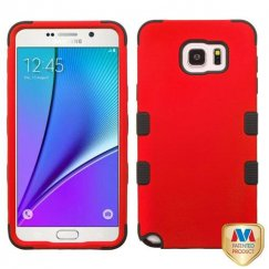 Samsung Galaxy Note 5 Titanium Red/Black Hybrid Case