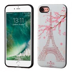 Apple iPhone 7 Paris Eiffel Tower/Black Advanced Armor Case - 3D Pattern