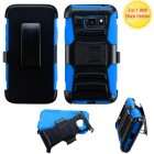 Samsung Galaxy S7 Active Black/ Blue Advanced Armor Stand Case with Black Holster