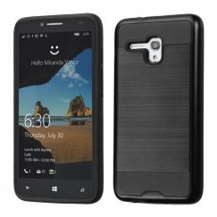 Alcatel One Touch Fierce XL Black/Black Brushed Hybrid Case