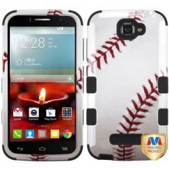 Alcatel One Touch Fierce 2 Baseball-Sports Collection/Black Hybrid Case