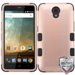 ZTE Prestige 2 Rose Gold/Black Hybrid Case Military Grade