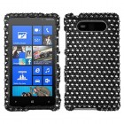 Nokia Lumia 820 Dots(Black/white) Diamante Phone Protector Cover