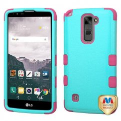 LG LG G Stylo 2 Plus Natural Teal Green/Electric Pink Hybrid Case