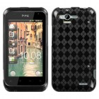 HTC Rhyme Smoke Argyle Pane Candy Skin Cover