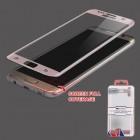 Samsung Galaxy S7 Edge Full Coverage Tempered Glass Screen Protector - Rose Gold