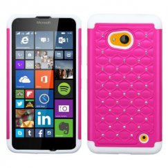 Nokia Lumia 640 Hot Pink/Solid White FullStar Case