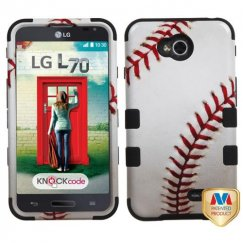 LG Optimus L70 Baseball-Sports Collection/Black Hybrid Case