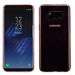 Samsung Galaxy S8 Plus Glossy Transparent Rose Gold Candy Skin Cover