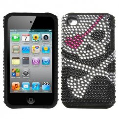 Apple iPod Touch (4th Generation) Skull Diamante Fusion Case
