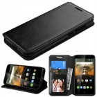 Alcatel One Touch Conquest Black Wallet(with Tray)