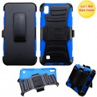 LG X Power / K6 Black/ Blue Advanced Armor Stand Case with Black Holster