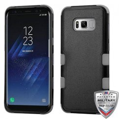 Samsung Galaxy S8 Natural Black/Iron Gray Hybrid Case Military Grade