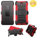 Black/Red Advanced Armor Stand Case Combo with Black Holster