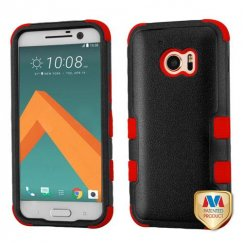 HTC 10 Natural Black/Red Hybrid Case