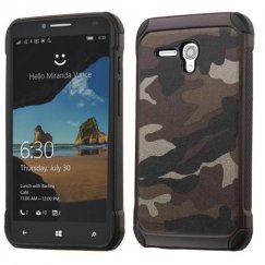 Alcatel One Touch Fierce XL Camouflage Gray Backing/Black Astronoot Case