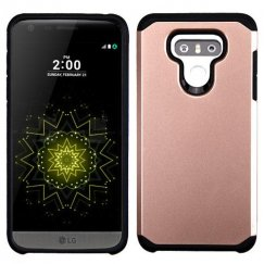 LG G6 Rose Gold/Black Astronoot Phone Protector Cover