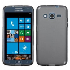 Samsung Ativ S Neo SGH-I187 Semi Transparent Smoke Candy Skin Cover - Rubberized