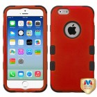 Apple iPhone 6/6s Titanium Red/Black Hybrid Case