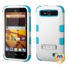 ZTE Speed Natural Ivory White/Tropical Teal Hybrid Case with Stand