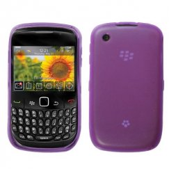 Blackberry 8520 Semi Transparent Purple Candy Skin Cover - Rubberized