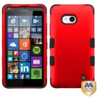 Nokia Lumia 640 Titanium Red/Black Hybrid Case