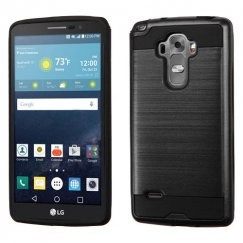 LG G Vista 2 Black/Black Brushed Hybrid Case