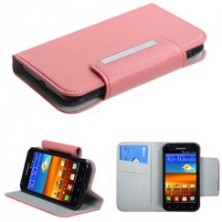 Samsung Epic 4G Touch (Galaxy S2) Pink Premium Book-Style Wallet with Card Slot