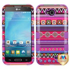 LG Optimus L90 Tribal Fashion/Electric Purple Hybrid Case
