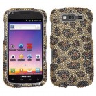 Samsung Galaxy S Blaze 4G SGH-T769 Leopard Skin/Camel Diamante Protector Cover