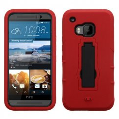 HTC One M9 Black/Red Symbiosis Stand Case