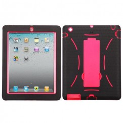 AppleiPad 2nd Generation 2011 Hot Pink/Black Symbiosis Stand Case