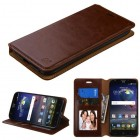 ZTE Grand X 3 / Warp 7 Brown Wallet(with Tray)